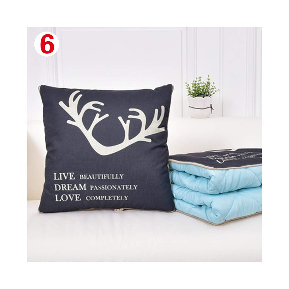 Pillow Quilt Dual-use air Conditioner is car Multi-Function Sofa Cushion Pillow Pillow Lunch Break is Summer Cool (Color : 6)