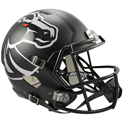 Boise State Broncos Black Officially Licensed NCAA Speed Full Size Replica Football Helmet by Riddell