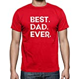 Funchious Best Dad Ever, for Dad, Perfect Novelty Gift Men's T-Shirt (X-Large, Red)