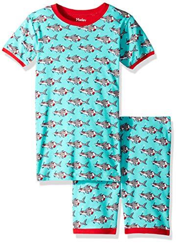 anic Cotton Short Sleeve Printed Pajama Set, Jawsome, 12 Years ()
