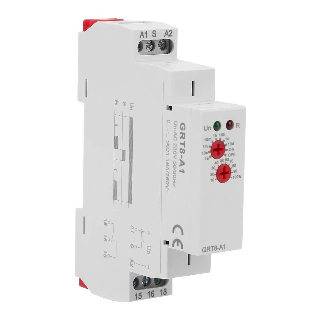 montage sur rail DIN 220V Nitrip GRT8-A1 Mini relais temporis/é /à la mise sous tension