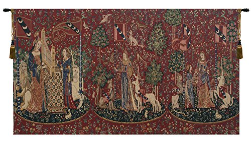 Lady and the Unicorn Series I Belgian Tapestry for sale  Delivered anywhere in USA