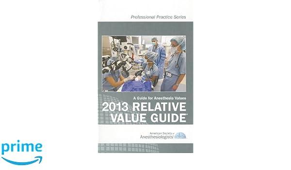 2013 relative value guide