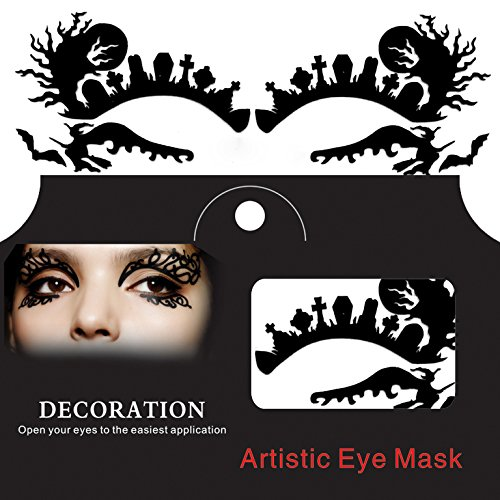 CoCocina Ghost Witch Spider Halloween Eye Sticker Squishy Lace Fretwork Papercut -