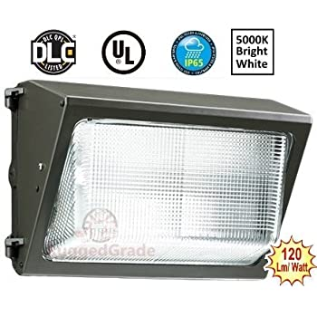 120 Watt LED Wall Pack Light – 13,400 Lumens- High Efficiency 120 Lumen to Watt - 5000K Bright White -Replaces 600-800W- 100,000 Hour LED Wall Light –Commercial Grade Wall Pack LED Wall Lighting