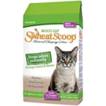sWheat Scoop Multi-Cat All-Natural Clumping Cat Litter, 14lb Bag