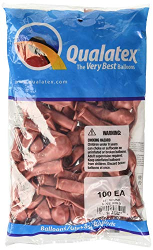 Qualatex Latex Balloon 057340 Rose Gold, 5