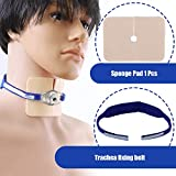 Medical Trachea Fixing Belt, Tracheal Fixation Device with Sponge Pad,45×3cm,Blue
