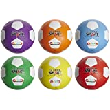 School Smart Size 4 Soccer Balls, Assorted Colors, Set of 6