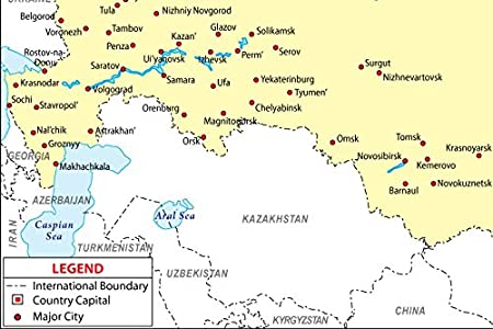 Amazoncom Russia Map With Major Cities W X H Office - Nalchik map
