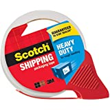 "Scotch Heavy Duty Shipping Packaging Tape with Refillable Dispenser, 3"" Core, 1.88"" x 54.6 yd, 1 Pack(3850-RD)"