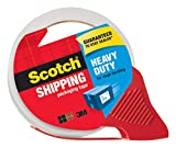 "Scotch Heavy Duty Shipping Packaging Tape with Refillable Dispenser, 3"" Core, 1.88"" x 54.6 yd, 1 Pack(3850-RD): more info"
