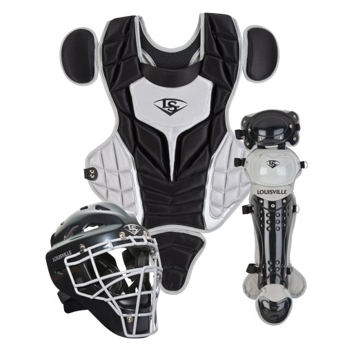 - Louisville Slugger Youth PG Series 5 Catchers Set, Black/Gray