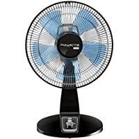 Rowenta VU2670 Extreme Turbo Silence 12-Inch Manual Table Fan with Remote Control, 4 Speed Settings including Turbo Boost Options, Black