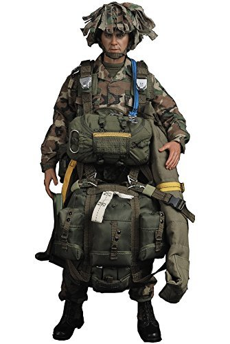 United States Army 82nd Airborne Division 1st Brigade parachute infantry Panama 1989-1990 1/6 action figure - Parachute United States