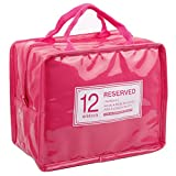 JET-BOND JJ31 Patent leather Waterproof insulated Lunch bag food organizer ice bag (Pink)