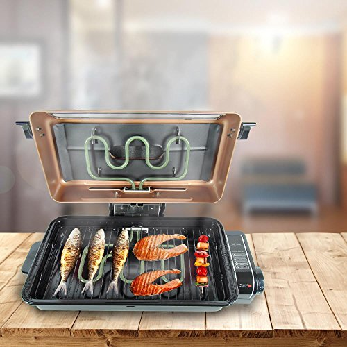 Nutrichef Electric Fish Grill Roaster Oven Grilling Indoor