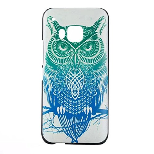 Vovotrade(TM)Owl Pattern PC Hard Plastic Fitted Cover Skin Case For HTC One M9