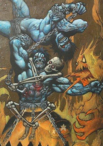 SIMON BISLEY Original Art, LOBO vs HIMSELF, 2005, NM, Skeleton, Demon, ()