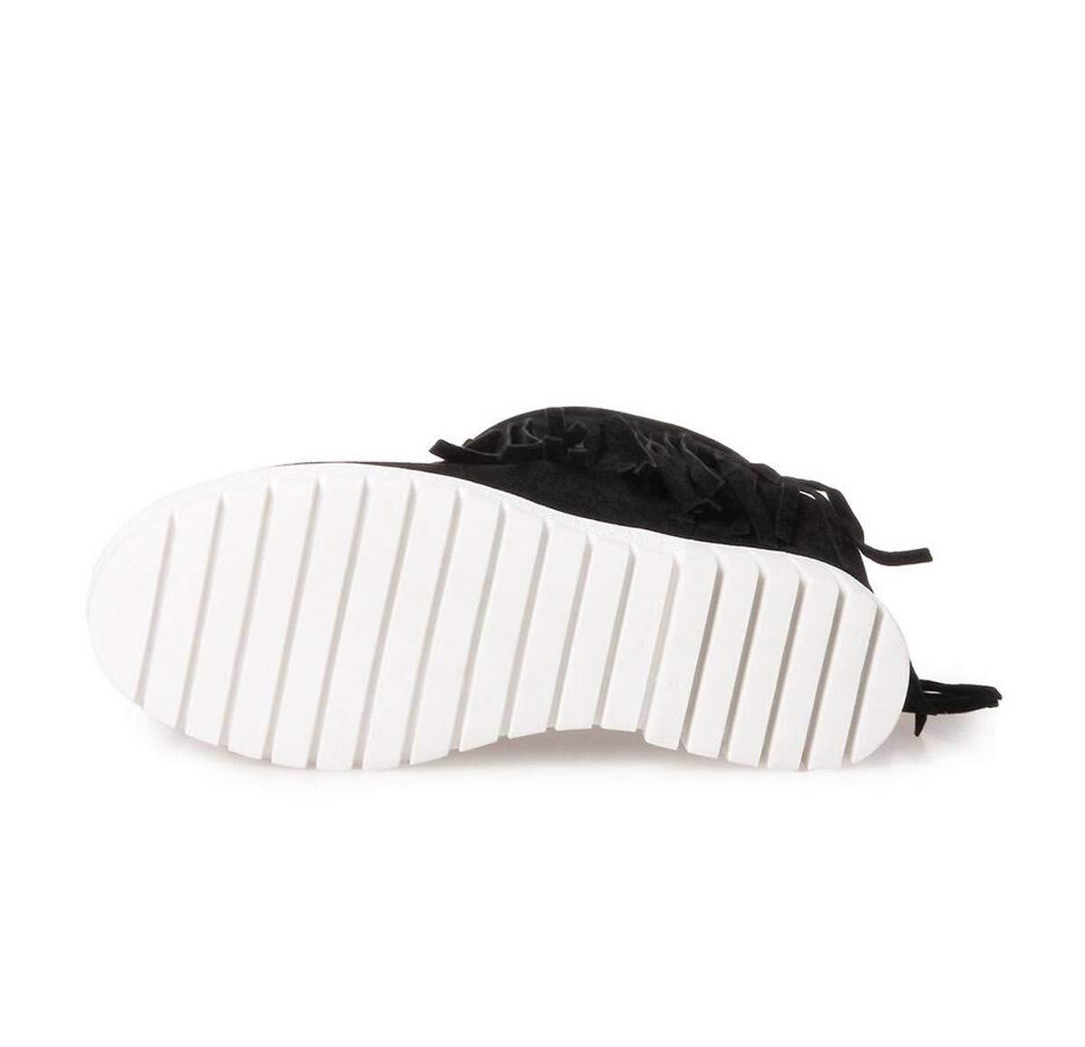 DANDANJIE Damen Stiefel Keilabsatz Reißverschluss Mittelrohr Stiefel Freizeitschuhe Martin Stiefel Stiefel Martin 7d6124