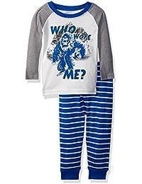 Baby Boys' 2-Piece Long Sleeve Tight Fit Pajama Set