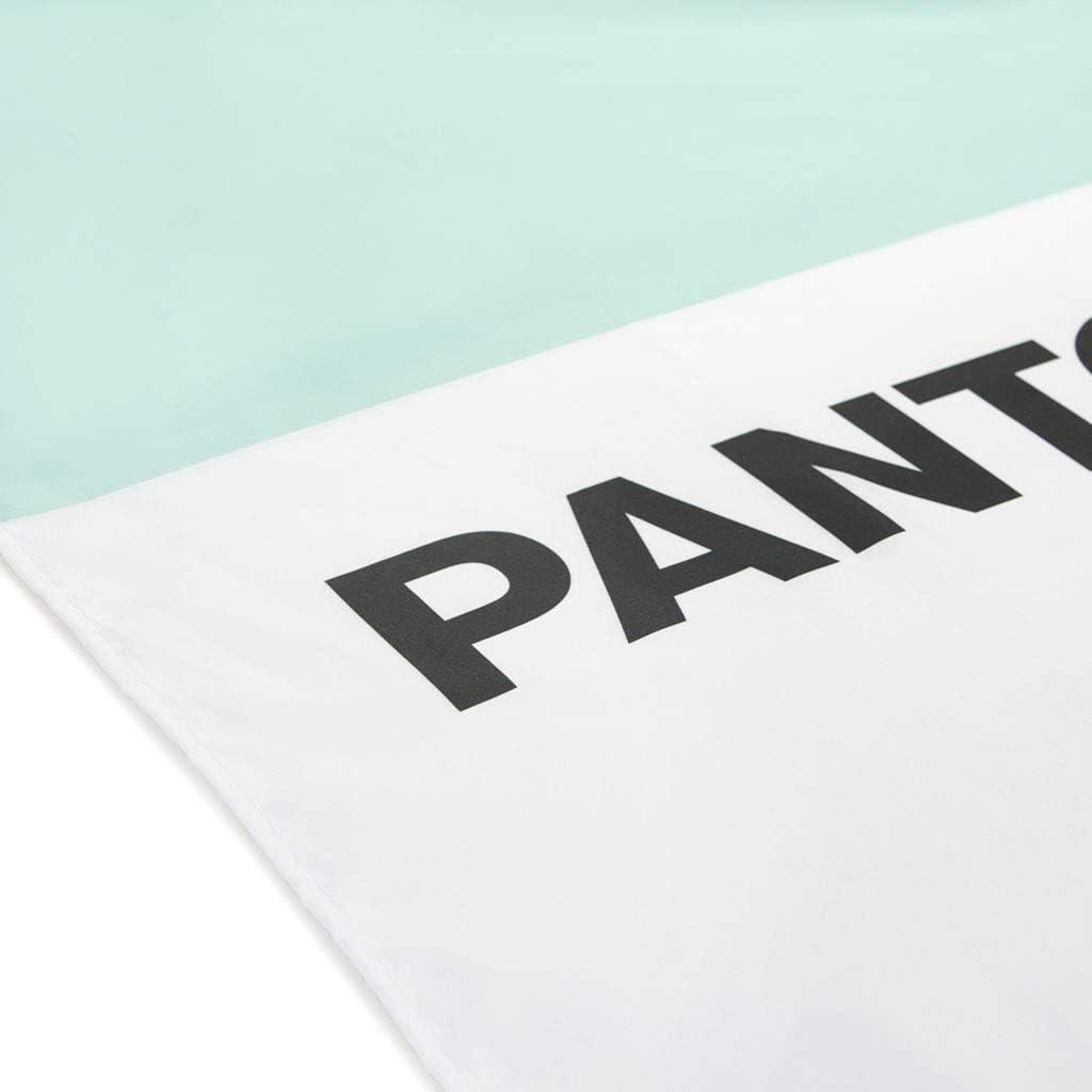 de Estilo Moderno y Original Poli/éster 200x180x0,25 cm Balvi Cortina ba/ño Pantone Color Verde Cortina Impermeable para la Ducha y ba/ñera