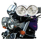 4'' Chrome Dominator Motorcycle Headlight Dual Streetfighter Cafe Racer w/Mount