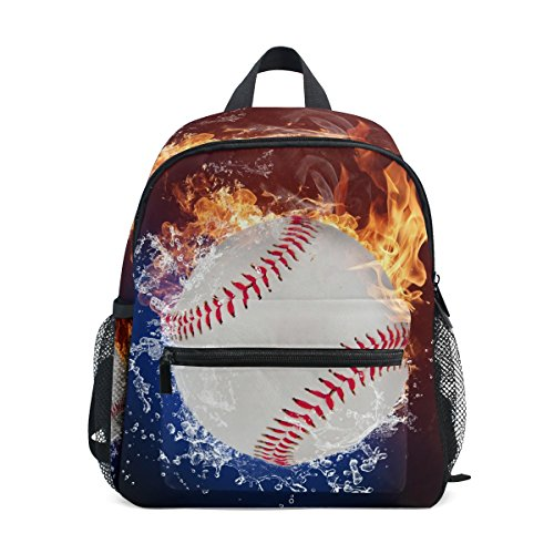 Pre Bag for Baseball Fire Boy School Kids ZZKKO Girls Water Kindergarten Backpack Toddler qwAXUxw41