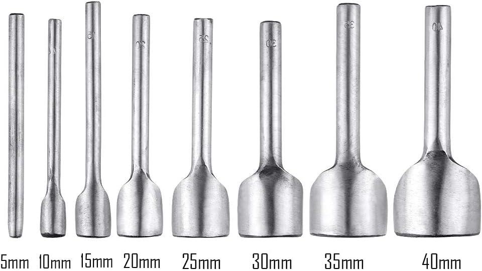 8 punzones semicircular para artesanos del cuero
