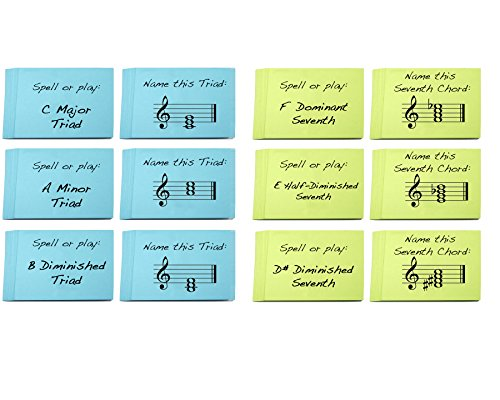 ord Names Flashcard Sets (2 Pack) Great Learning Triads and Seventh Chords ()