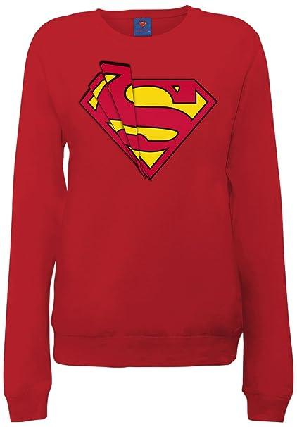 DC Comics Official Superman Shards Logo Womens Sweatshirt - Sudadera Mujer: Amazon.es: Ropa y accesorios