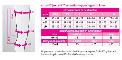 Circaid Juxta Fit Essentials Long Upper Legging with Knee, 55 cm (XL (Left)) by CircAid (Image #2)