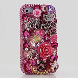 amazon phone cases for iphone 4 3d swarovski pink bling 18284