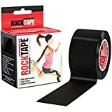 Rocktape Kinesiology Athletic Tape, Black, 5m x 5cm