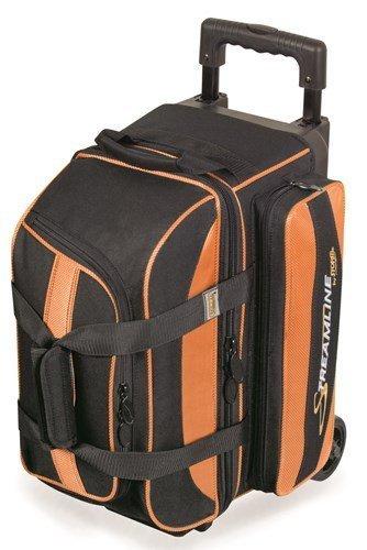 Streamline 2 Ball Roller Bowling Bag by Storm- Orange/Black by Storm