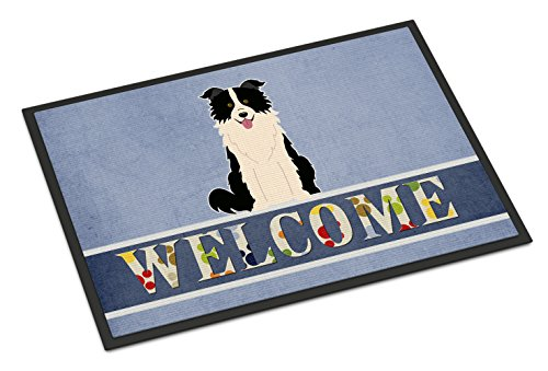 - Caroline's Treasures BB5699MAT Border Collie Black White Welcome Doormat, 18 x 27, Multicolor