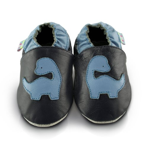 Snuggle Feet Babyschuhe Leder weich - Dinosaurier | 6-12 Monate
