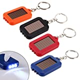Ireav 4PCS 3 LED Solar Panel electric torch key chain flashlight Camping Lamp Rechargeable Spotlight Power Energy 100000 Hours 60X35X10CM