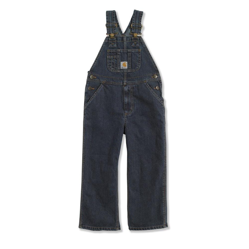Carhartt Kid's CM8647 Washed Denim Bib Overall - Boys - 12 Youth - Dark Blue