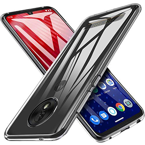 KuGi Moto Z4 Case, Moto Z4 Play Case with Shockproof & Scratch Resistant Protective, Ultra Slim Clear Hybrid Soft Rubber TPU Case Cover for Moto Z4 Play/Moto Z4 Phone(Crystal Clear)