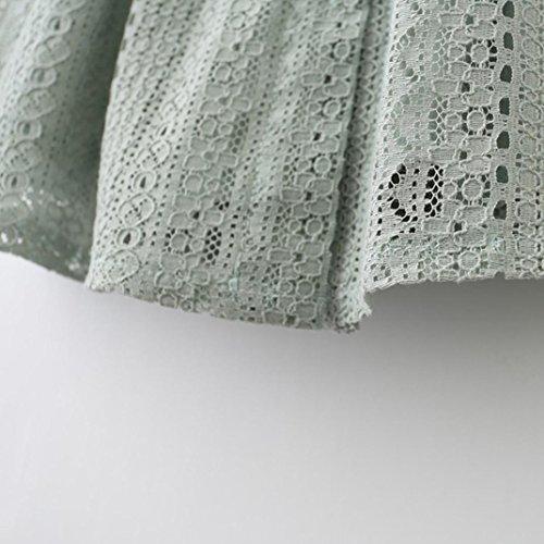 de Volants Dentelle Robe Fille LMMVP 24M Filles de Mode Mariage 18 de Tutu en Mode Robe Cérémonie de vert L Princesse vert Robe 7qv78