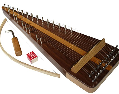 Zither Heaven Artisan Black Walnut 22 String Bowed Psaltery w/ Black Walnut top by Zither Heaven