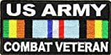 US Army Combat Veteran Patch - By Ivamis Trading - 4x2 inch