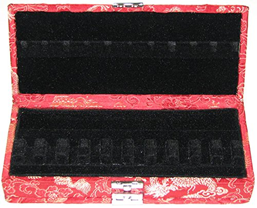 20-Reed Bassoon Reed Case Silk (Red/Gold)