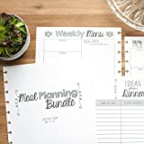 Meal Planning Bundle for Disc Bound Planners, Letter Size, 6 Month Supply, 8.5''x11''