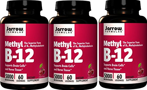 Jarrow Formulas Methyl B12, Methylcobalamin (60 x 3) by Jarrow