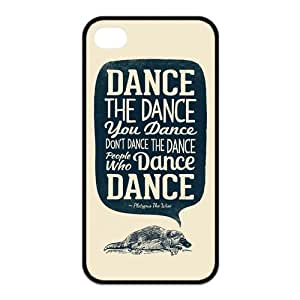 Dance Protective Rubber Back Fits Printed Cover Case for iPhone 4 4s