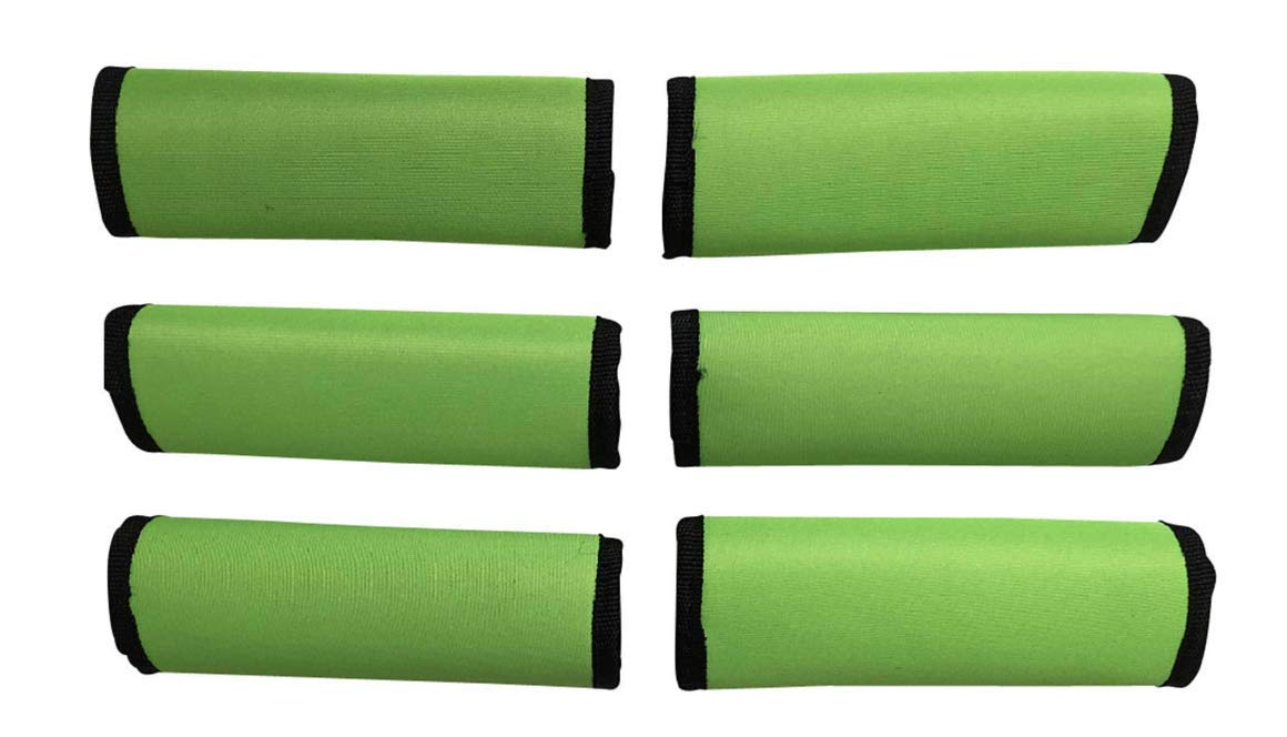 Heavy Grocery Bags Wraps Around Just About Anything Suitcases 6 LIME GREEN 50/% OFF LUGGAGE SPOTTER/® SUPER GRABBER Soft Comfort Neoprene Handle Wrap Grip Luggage Identifier for Travel Bags