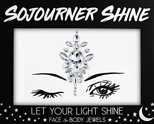 Face Jewels Glitter Gems Rhinestones – Eye Body Jewels Gems | Rhinestone Stickers | Body Glitter Festival Rave & Party Accessories by SoJourner (3rd Eye -