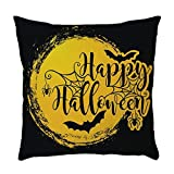 Halloween Pillow Covers 18X18 Vintage Letters Black Cat Lovely Boy Print Throw Pillow Case Soft Sofa Couch Bed Car Cushion Pillowcase Halloween Home Decorations